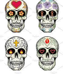 ornamental skulls illustrations creative market