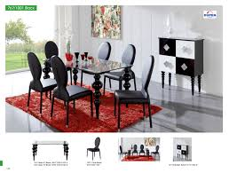 black leather chairs with oval back combined with rectangle glass