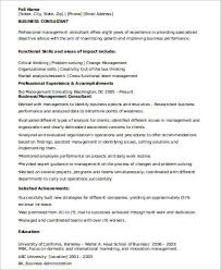 consulting resume sle consulting resume 8 exles in word pdf