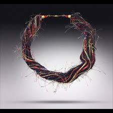 yarn necklaces fiber necklaces elegant chic and fun high