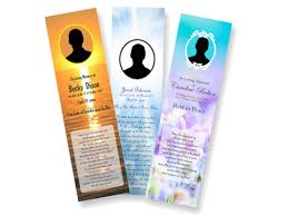 memorial bookmarks funeral prayer memorial cards bookmarks printed delivered