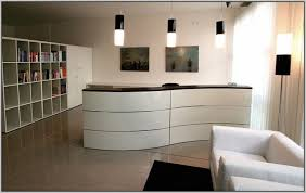 Ikea Reception Desk Modern Wave Ikea Reception Desk Using White Color For Modern Lobby