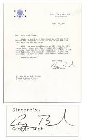 wedding wishes letter to friend lot detail george bush typed letter signed as vice president