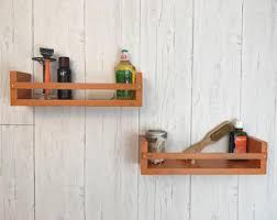Wood Bathroom Shelves by Wood Floating Shelf Etsy