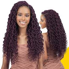 crochet hair freetress crochet braid 2x soft curly faux loc 18