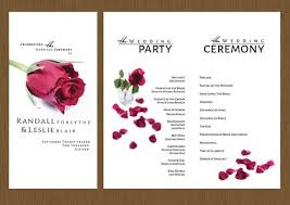 wedding program designs a single wedding program detail wedding design