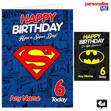 superhero personalised a5 birthday card son daughter nephew kids