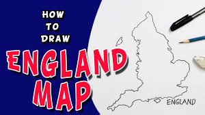 how to draw england map outline drawing for kids youtube
