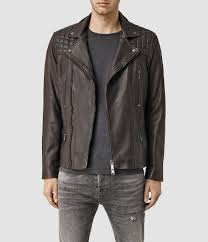 mens black leather motorcycle jacket allsaints rowley leather biker jacket usa usa in black for men lyst
