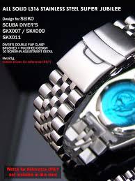 seiko solid bracelet images Strapcode stainless steel super jubilee bracelet for seiko skx007 jpg