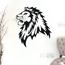 compare prices on profiles furniture online shopping buy low removable lion head profile vinyl wall stickers for kids rooms transprent waterproof sticker for home decor