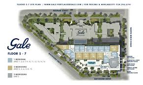 gale fort lauderdale key plan condo site plan floor plans