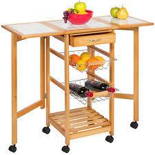 folding kitchen island cart folding kitchen cart ebay