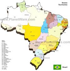 Map Of Central Massachusetts by Map Of Brazil States U0026 Major Citites Planetware