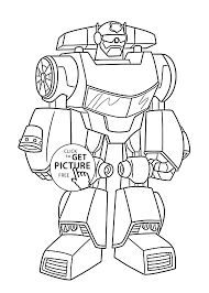 bot coloring pages kids printable free rescue bots