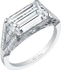 horizontal emerald cut engagement ring 4 engagement rings with horizontal stones i loooove this trend