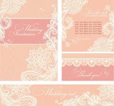 Vintage Lace Wedding Invitations Set Of Wedding Invitations And Announcements With Vintage Lace