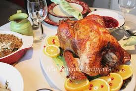 Turkey On The Table My Kitchen Snippets Thanksgiving Feast