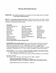 exle of how to write a resume objective section of resume present portrait chic exles on