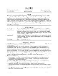 sample java developer resume programmer cover letter sample cover