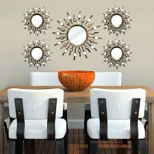 wall ideas hosley decorative wall mirror set of 3 decorative