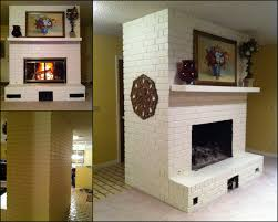 Painted Stone Fireplace Before After Painted Brick Fireplace Creative Outpour