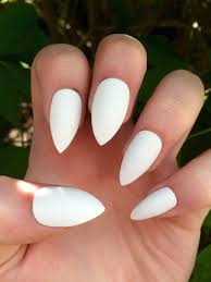 stiletto nails matte nails white matte fake nails