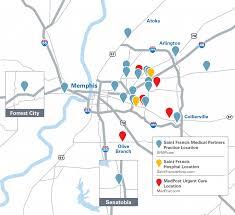Memphis Map St Francis Medical Partners