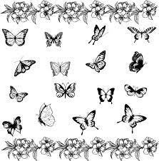 small colored butterfly tattoos designs