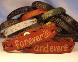 His And Hers Engraved Bracelets Engraved Leather Bracelets Custom Leather Engraved Bracelets