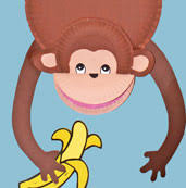 Paper Plate Monkey Craft - paper plate monkey craft i think i could use this craft to teach