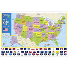 United States Canada Map by The United States For Kids Wall Map National Geographic Store
