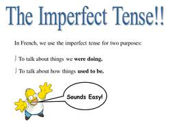 imperfect tense in french by blaggers12 teaching resources tes