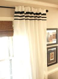 White Curtains With Blue Trim Decorating White Drapes With Black Trim Apartment Curtains