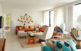 Living Room With Orange Sofa Rooms To Inspire By The Sea By Homes Houses