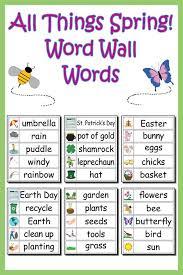 30 spring word wall words free printable