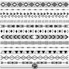 aztec ribbon tribal borders aztec borders clipart aztec