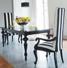 Black And White Striped Dining Chair Apartment In Black And White Classic Color Home Interior Design
