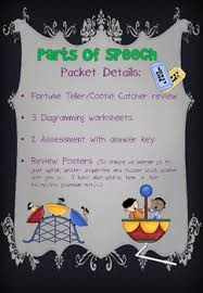 parts of speech review worksheet teaching resources teachers pay