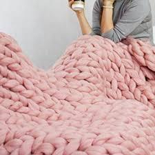 light pink throw blanket amazon com 47x59in chunky knit blanket light pink blanket chunky