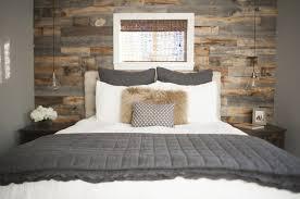 Rustic Chic Bedroom - wood wall interior design tips stikwood diy inspiration