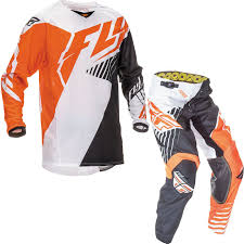 fly motocross gear new fly kinetic vector jersey pants kit orange white black