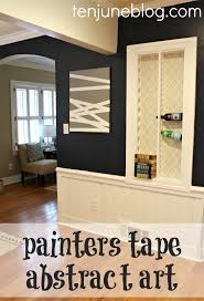 Art For The Dining Room Ten June Diy Painters Tape Abstract Art