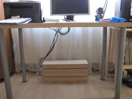 how to organize cables under desk use boalt to hide the ugly things under the desk ikea hackers