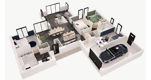 chambre en 3d ordinary plan de chambre 3d 14 plan maison f4 3d homeezy