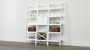 Crate Bookcase Sawyer White Leaning Wine Bar With Two 24 5