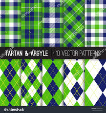 green repeating halloween background navy green argyle tartan gingham plaid stock vector 625340123