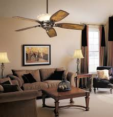 interior living room ceiling fan with gratifying decorations