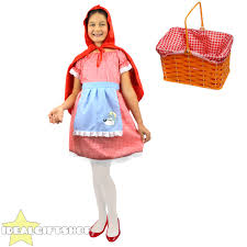 little red riding hood halloween costumes girls little red riding hood basket fancy dress costume cape
