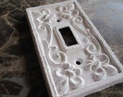 Shabby Chic Switch Plate by Metal Light Switch Cover Rose Gold Pick Color Shabby